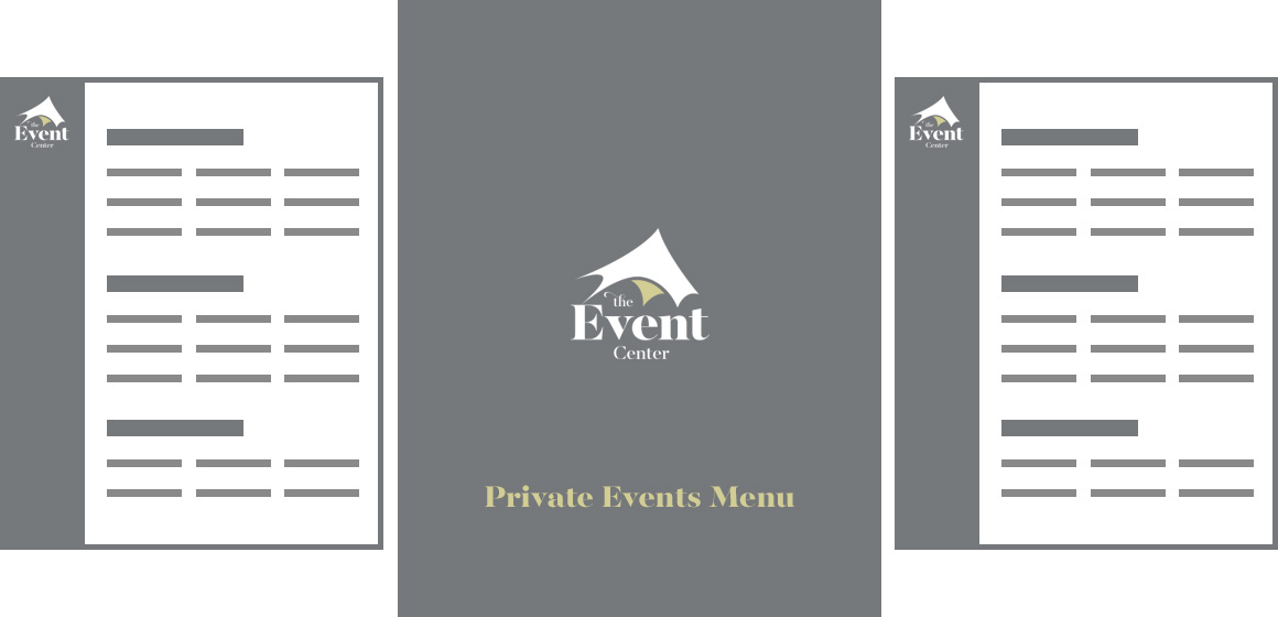 A preview of the private events menu
