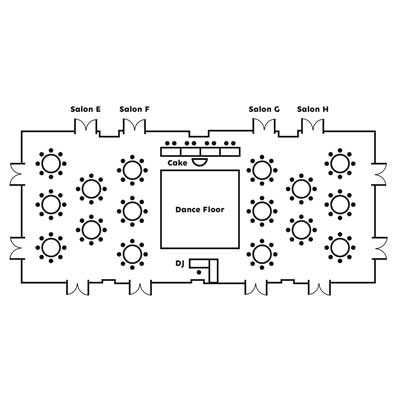 View Helvetica Ballroom layout