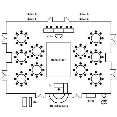View Lucida Ballroom layout