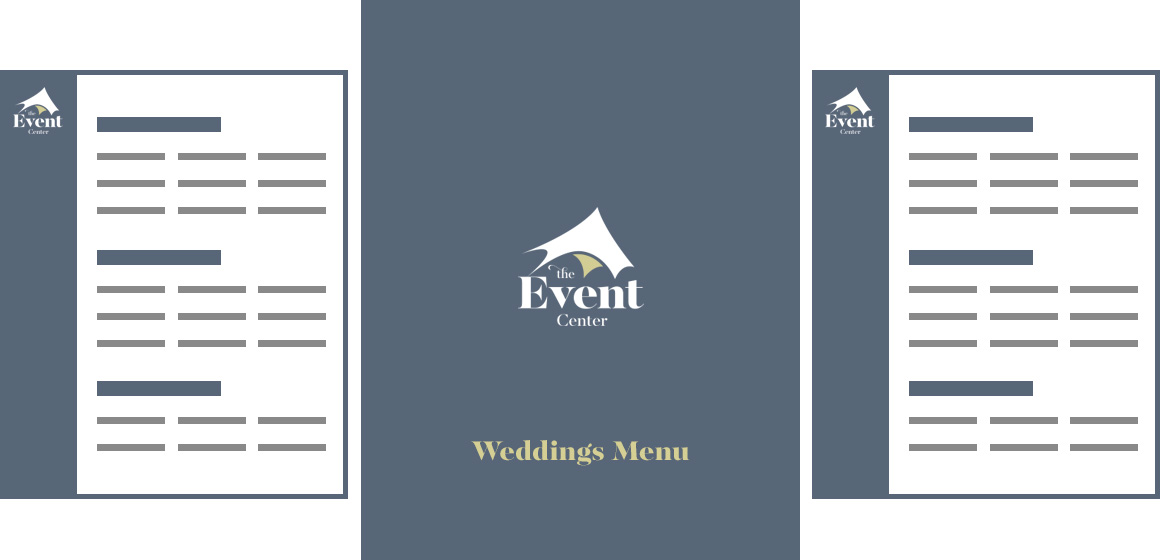 See the Event Center Wedding Menu
